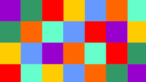Thank you video composed of animated colorful squares with letters CG動画素材