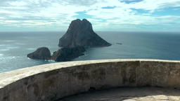 Europe Spain Balearic Ibiza coves and landscapes 092 pirates tower rooftop Footage