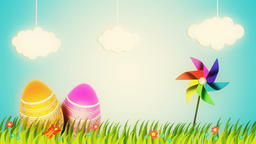 Happy Easter background animation CG動画素材