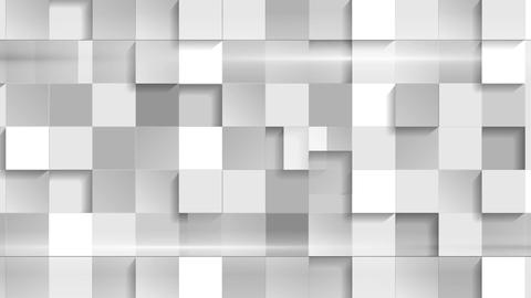 Abstract grey tech geometric squares video clip Animation