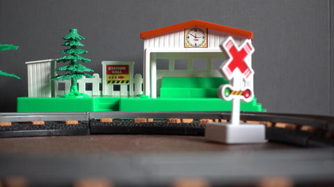 Toy Railway Station And Train