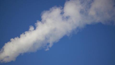 White Smoke In The Blue Sky 4k