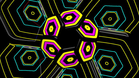 Full Color Dance Geometry 01 Animation