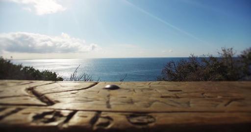 Malibu beach table view