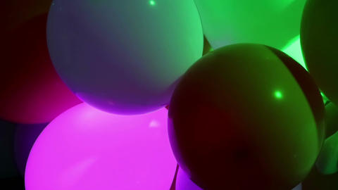 Celebration balloons and flashing lights Filmmaterial