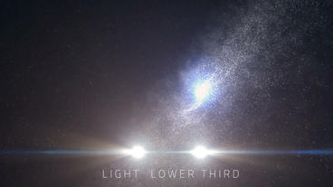 Space Light Lower Third (5 Pack) After Effects Project