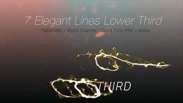 Elegant Lines Lower Third After Effects Project