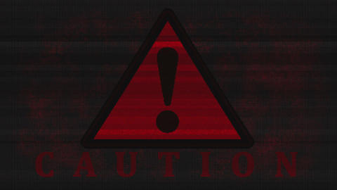 Alarmingly a flashing caution - Danger Animation