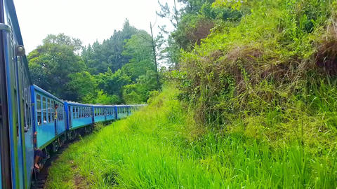 People traveling by train most popular and comfortable transport in Sri Lanka Footage