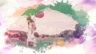 Colored Ink SlideShow After Effects Templates