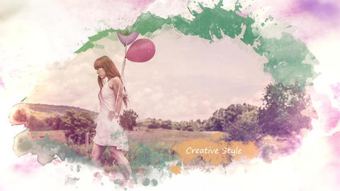 Colored Ink SlideShow After Effects Template
