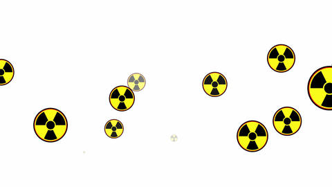 Sign of radioactive hazard, animation with alpha channel Animation