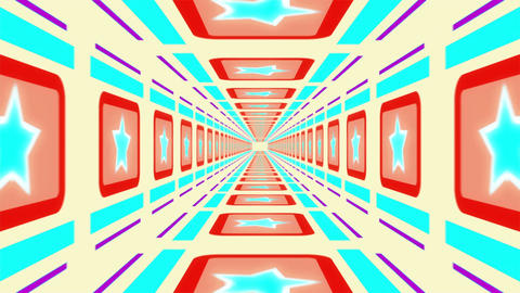 Light corridor. Great animation for background music loop Animation