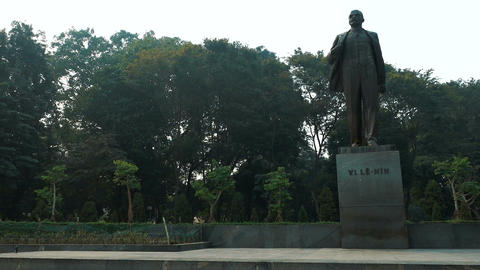The monument to Lenin in the center of Hanoi Footage
