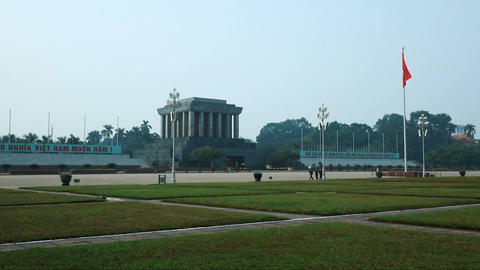 Changing of the guard at the Ho Chi Minh Mausoleum Footage