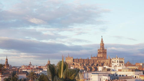 Cathedral and giralda of Seville Footage
