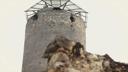 Ruins with watchtower of castle Footage