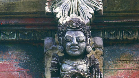Balinese gods at Gunung Kawi Temple Complex, Bali, Indonesia Footage