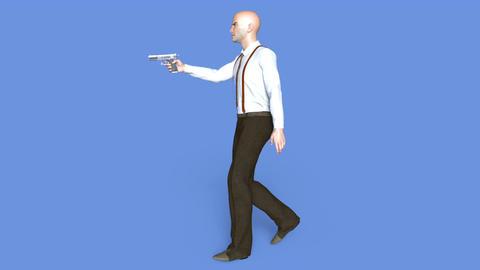 Gun Fighter Walk Animation