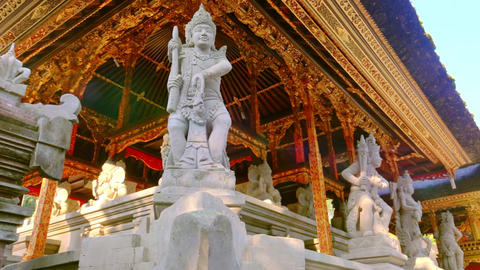 Balinese mythology characters. Gunung Kawi Temple Complex, Bali, Indonesia Footage