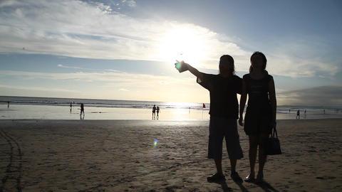 Kuta beach Sunset Footage