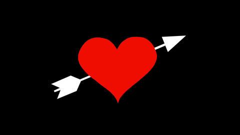 Heart-and-arrow Animation