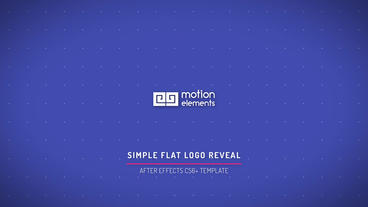 Simple Flat Logo Reveal After Effects Projekt