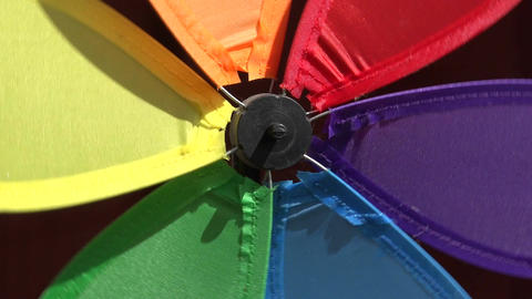Colorful windmill toy motion background, 4K Footage