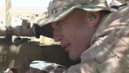 Oregon Soldiers from the 1-82 Cavalry Train on the 50 CAL... Stock Video Footage