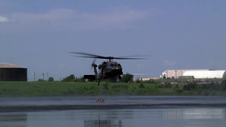Fire training helicopters with Bambi Bucket Training Stock Video Footage