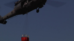 Fire training helicopters with Bambi Bucket Training Footage