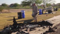 Recovery Operation to Retrieve Crashed AV-8B Harrier Stock Video Footage
