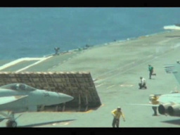 F-18 launches from the Aircraft Carrier USS George... Stock Video Footage