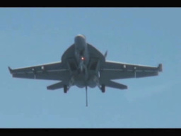 F18 Hornet landing on the Aircraft Carrier USS George... Stock Video Footage