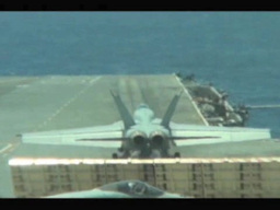 F-18 launches from the Aircraft Carrier USS George Washington Footage
