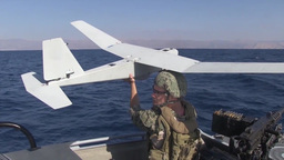 Unmanned aerial vehicle training uav Stock Video Footage