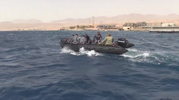 Unmanned underwater vehicle training Footage