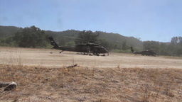 UH-60 Blackhawk Helicopters Stock Video Footage