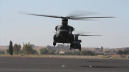 California Army National Guard helicopters take off in formation Footage