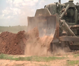 Bulldozer crawler tracked tractor Stock Video Footage