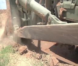 Bulldozer crawler tracked tractor Footage