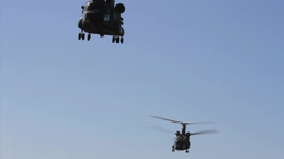 California Army National Guard helicopters take off in... Stock Video Footage
