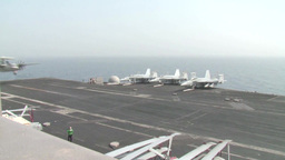 E2-C Hawkeye USS George H.W. Bush (CVN 77) aircraft carrier operations Footage