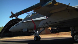F/A-18 Final Check on Hornet jet fighter Footage