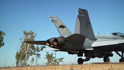 F/A-18 Final Check on Hornet jet fighter Stock Video Footage