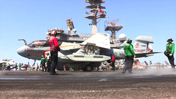 EA-6B Prowler USS George H.W. Bush (CVN 77) aircraft carrier operations Footage