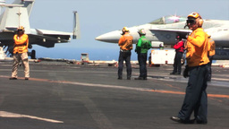 USS George H.W. Bush (CVN 77) aircraft carrier operations Stock Video Footage