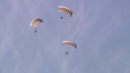 Supporting D-Day Anniversary parachuting from C-130 Hercules Footage