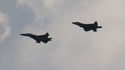 F22 and F15 Military Fighter Jets take off and land Footage