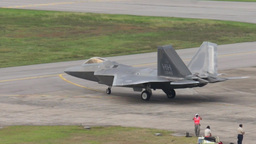 F22 Raptor stealth fighter Military Fighter Jets take off... Stock Video Footage